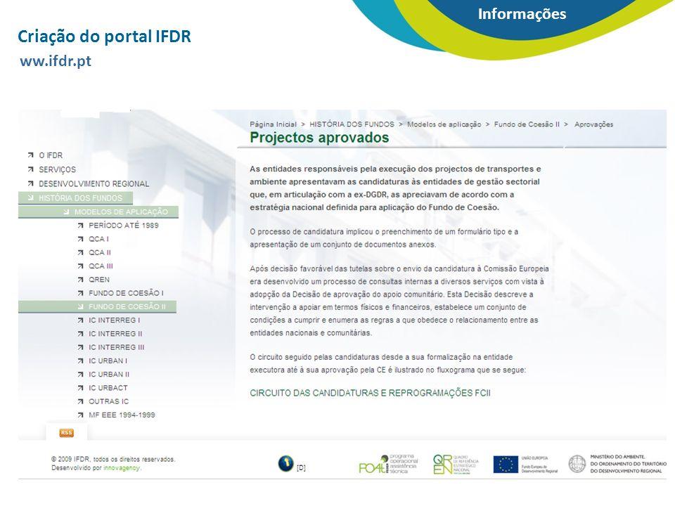 Criação do portal IFDR ww.ifdr.pt
