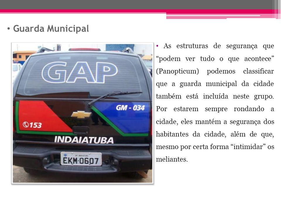 Guarda Municipal As estruturas de segurança que podem ver tudo o que acontece (Panopticum) podemos classificar que a guarda municipal da cidade também está incluída neste grupo.