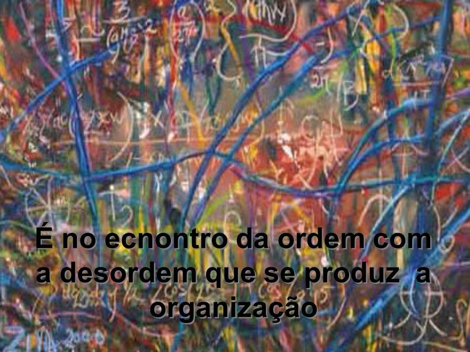 É no ecnontro da ordem com a desordem que se produz a organização É no ecnontro da ordem com a desordem que se produz a organização