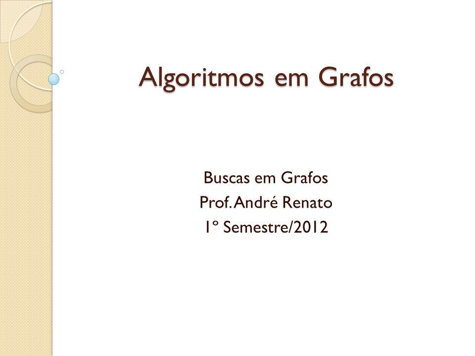 Algoritmos em Grafos Buscas em Grafos Prof. André Renato 1º Semestre/2012