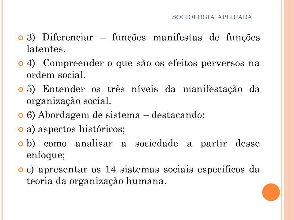 Conceito de Antonio Rubbo Müller: Afirma a existência de 14 Sistemas Sociais Específicos.