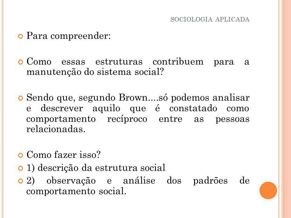 c) Nível da Ordem Social: Pode ser analisado a partir da compreensão da ordem existente.