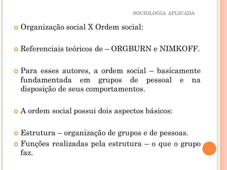 Num sistema social cada indivíduo tem uma função a desempenhar.
