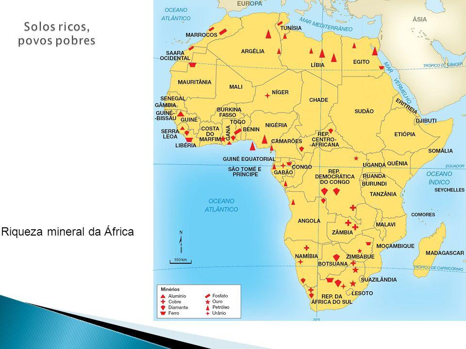 Riqueza mineral da África