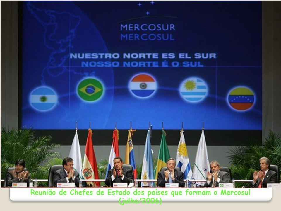 Reunião de Chefes de Estado dos países que formam o Mercosul (julho/2006)