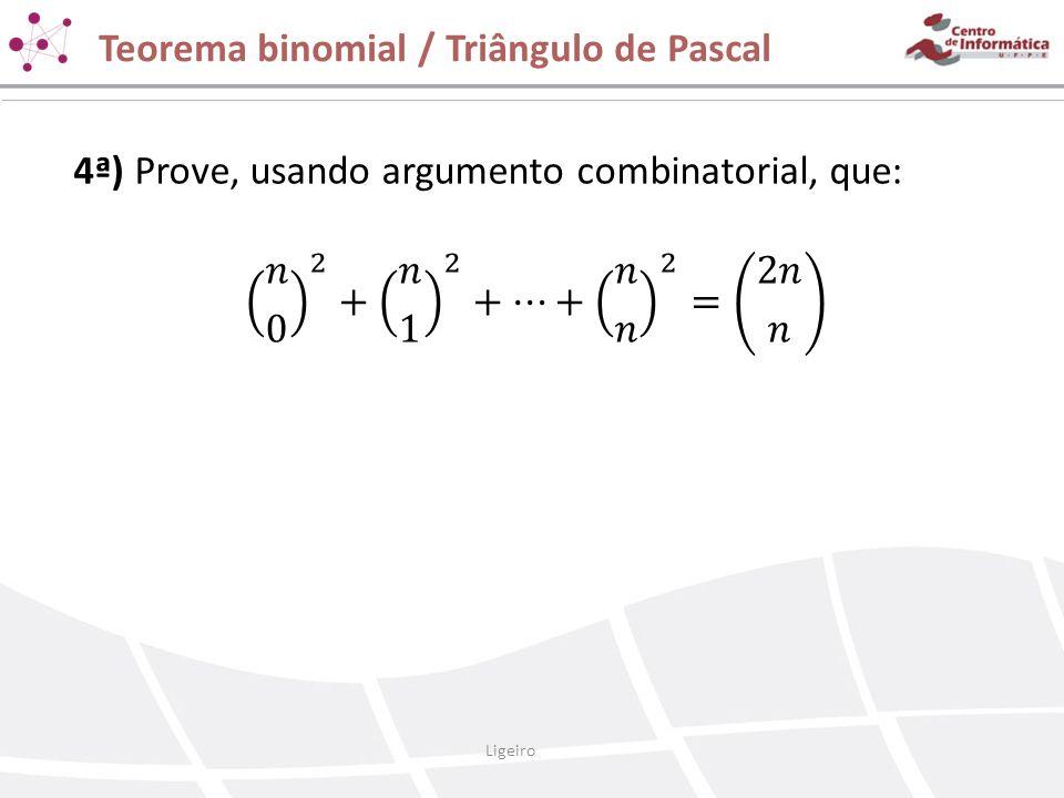 Teorema binomial / Triângulo de Pascal Ligeiro