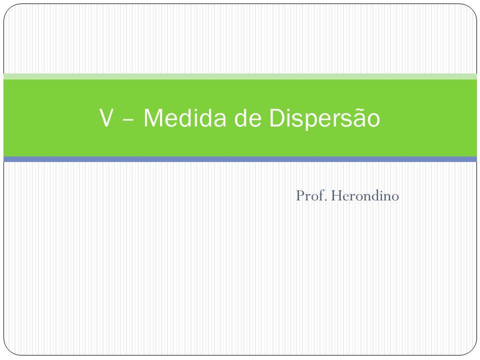 Prof. Herondino V – Medida de Dispersão