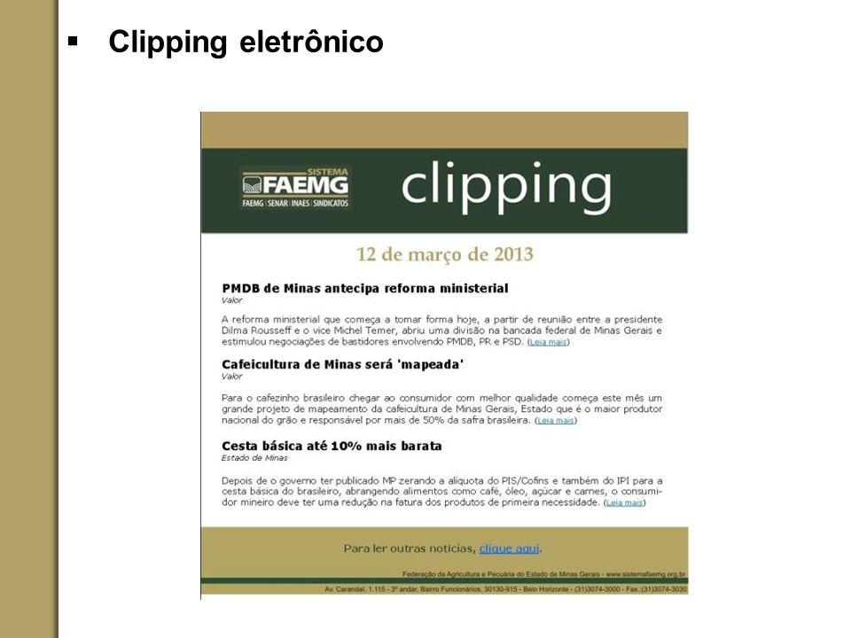 Clipping eletrônico
