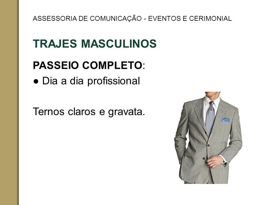 TRAJES MASCULINOS PASSEIO COMPLETO: Dia a dia profissional Ternos claros e gravata.