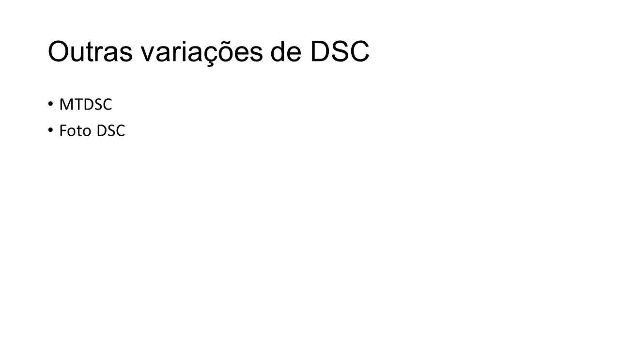Outras variações de DSC MTDSC Foto DSC
