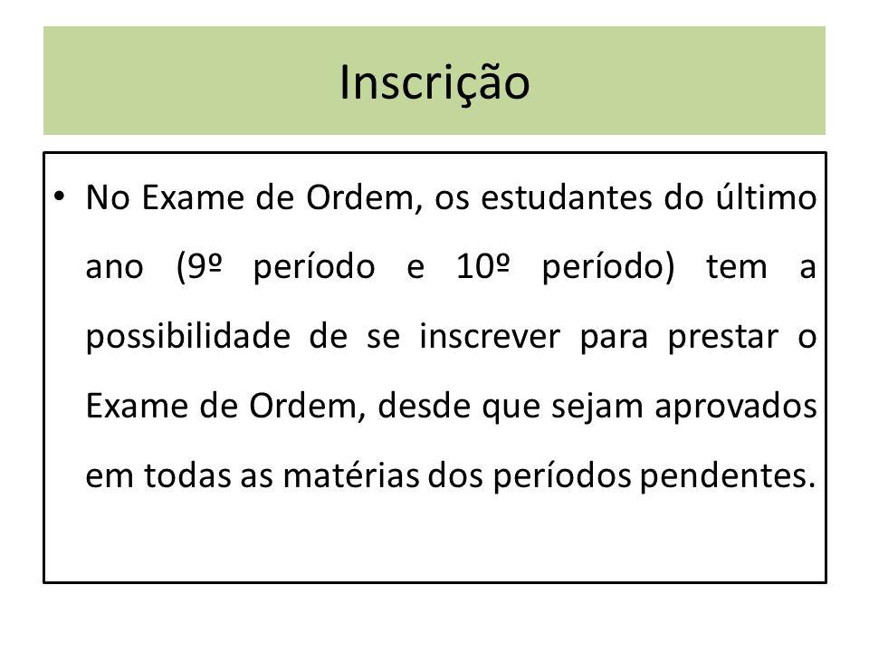 Segunda Fase Fonte: Portal Exame de Ordem