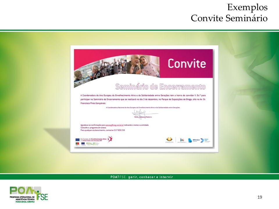 19 Exemplos Convite Seminário