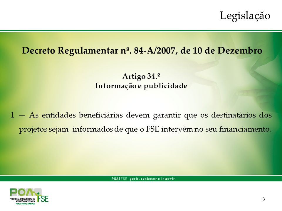 3 Decreto Regulamentar nº.