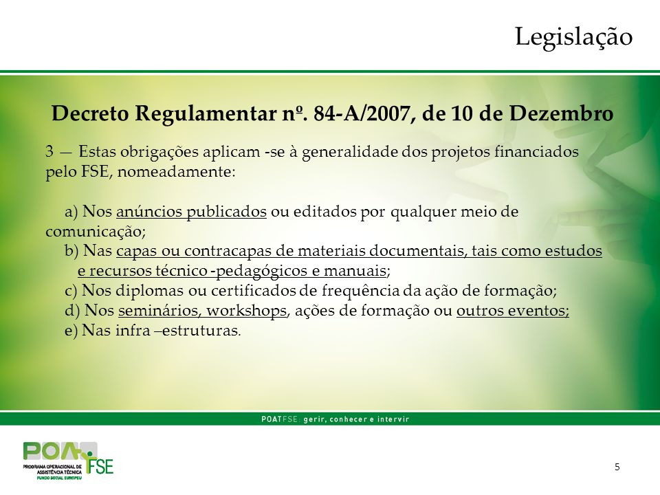 5 Decreto Regulamentar nº.