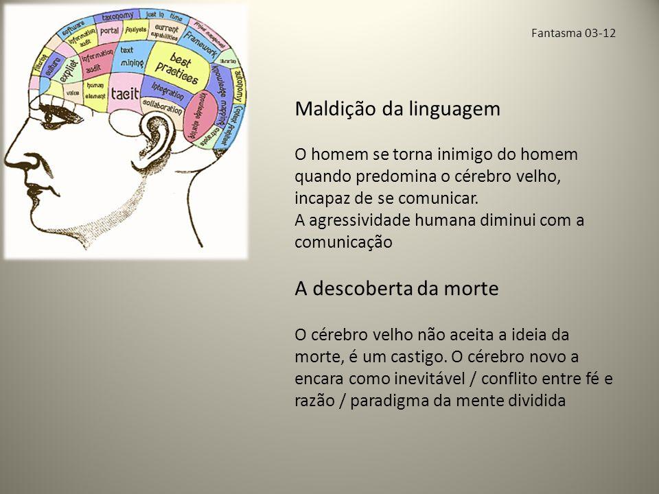 Fantasma 03-12 Maldição da linguagem O homem se torna inimigo do homem quando predomina o cérebro velho, incapaz de se comunicar.