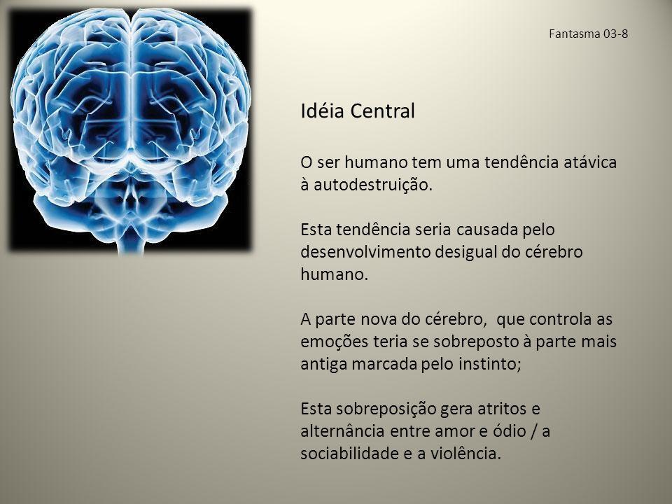 Fantasma 03-8 Idéia Central O ser humano tem uma tendência atávica à autodestruição.
