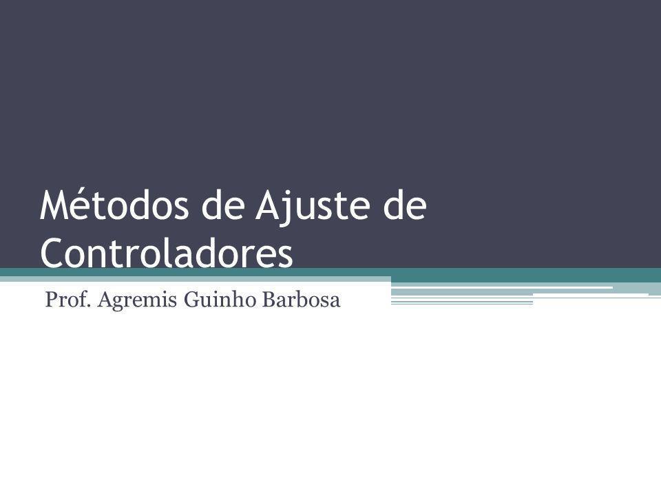 Métodos de Ajuste de Controladores Prof. Agremis Guinho Barbosa