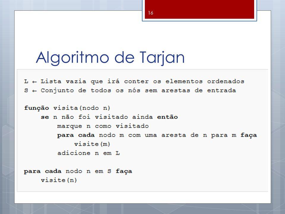 Algoritmo de Tarjan 16
