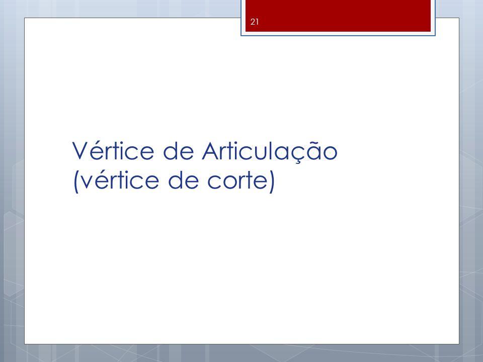 Vértice de Articulação (vértice de corte) 21