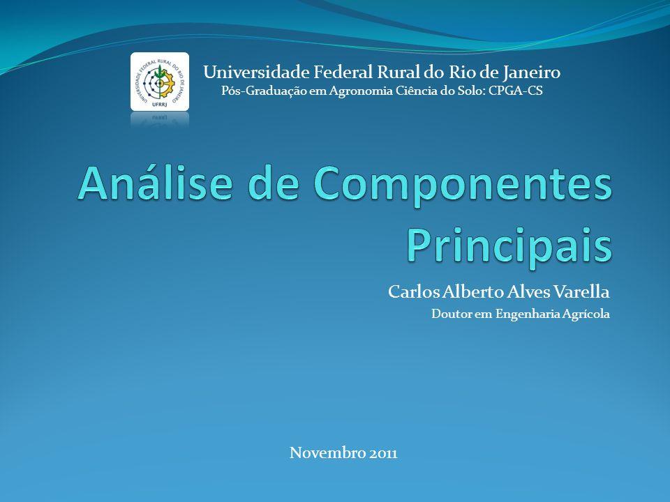 Carlos Alberto Alves Varella Doutor em Engenharia Agrícola Universidade Federal Rural do Rio de Janeiro Pós-Graduação em Agronomia Ciência do Solo: CP