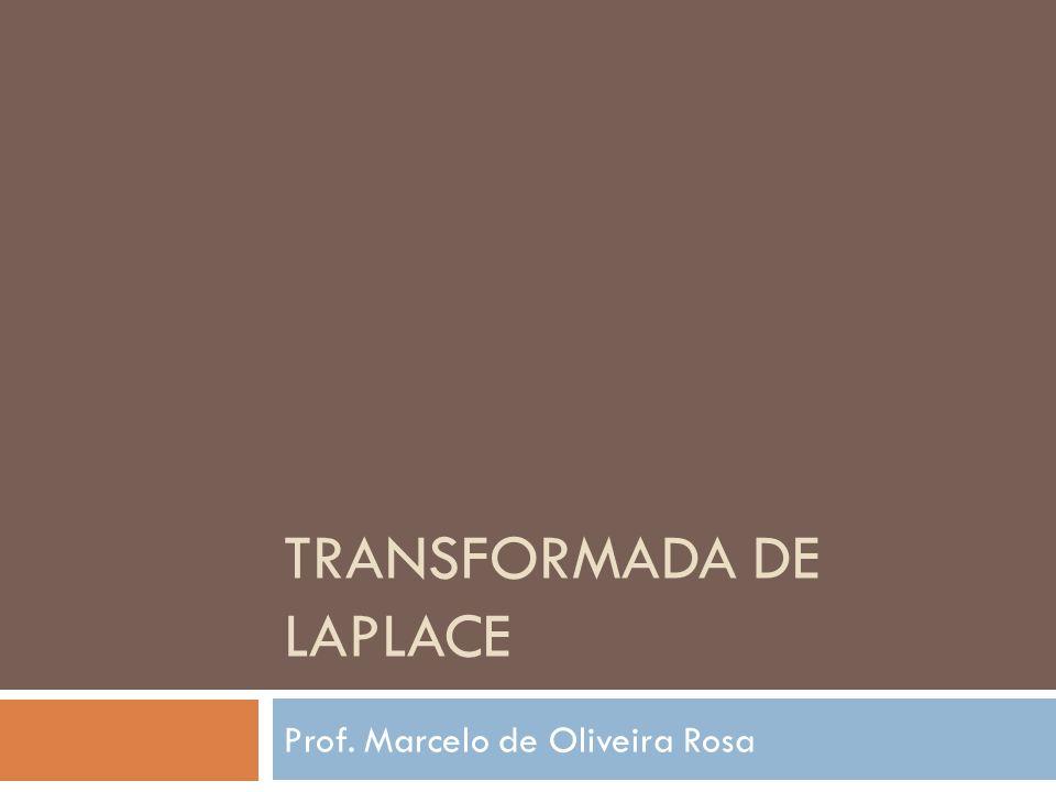 Transformada de Laplace Análise de comportamento de sistemas Extensão natural da transformada de Fourier s Novo domínio s = σ + jΩ Transformada de Fourier Autofunção de senóides complexas Transformada de Laplace Transformada de Laplace exponenciais complexas Autofunção de exponenciais complexas