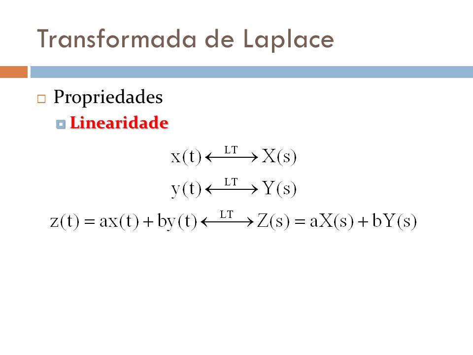 Transformada de Laplace Propriedades Linearidade Linearidade