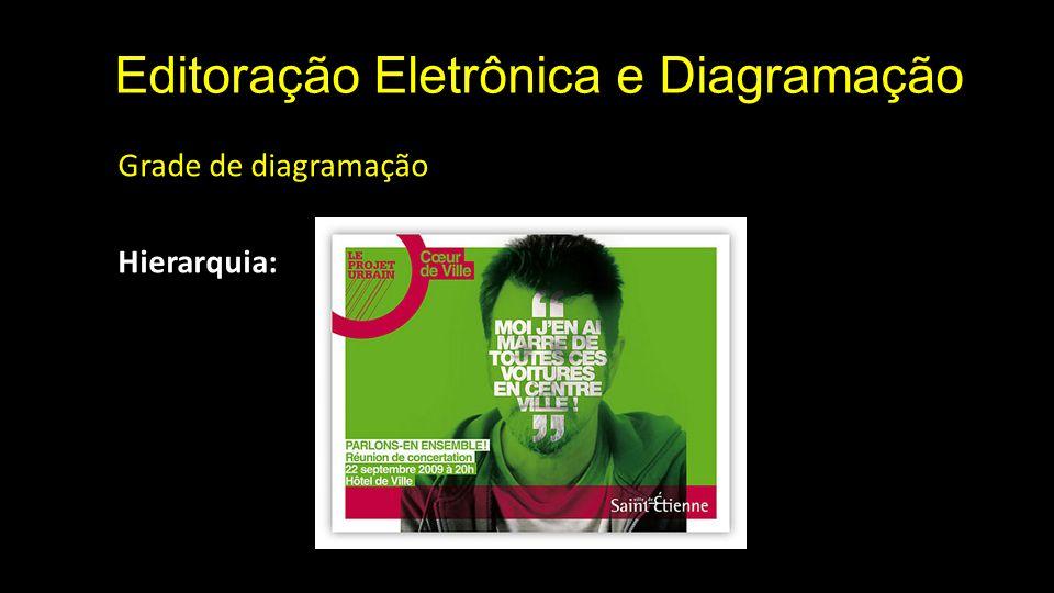 Editoração Eletrônica e Diagramação Grade de diagramação Hierarquia: