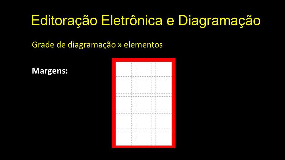 Editoração Eletrônica e Diagramação Grade de diagramação » elementos Margens: