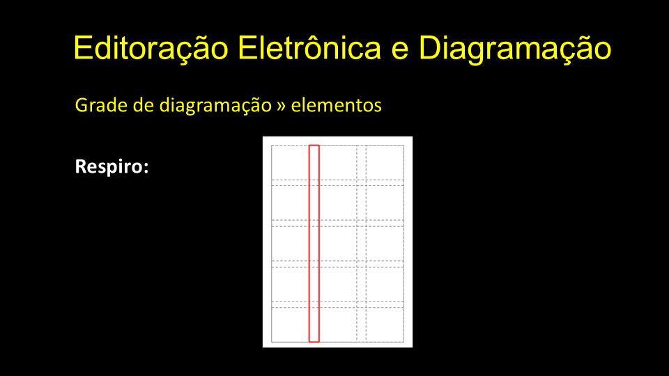 Editoração Eletrônica e Diagramação Grade de diagramação » elementos Respiro: