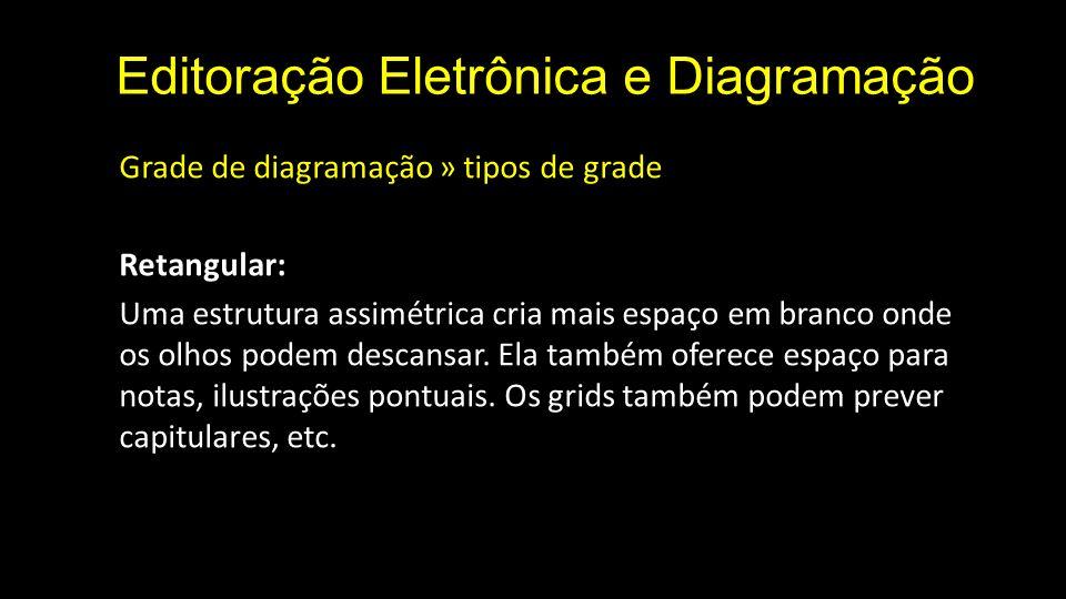 Editoração Eletrônica e Diagramação Grade de diagramação » tipos de grade Retangular: Uma estrutura assimétrica cria mais espaço em branco onde os olh