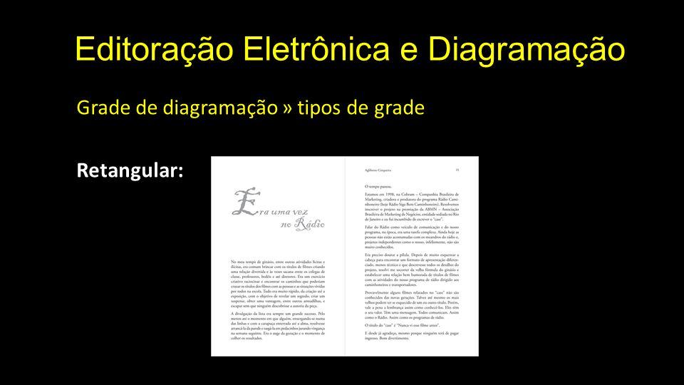 Editoração Eletrônica e Diagramação Grade de diagramação » tipos de grade Retangular: