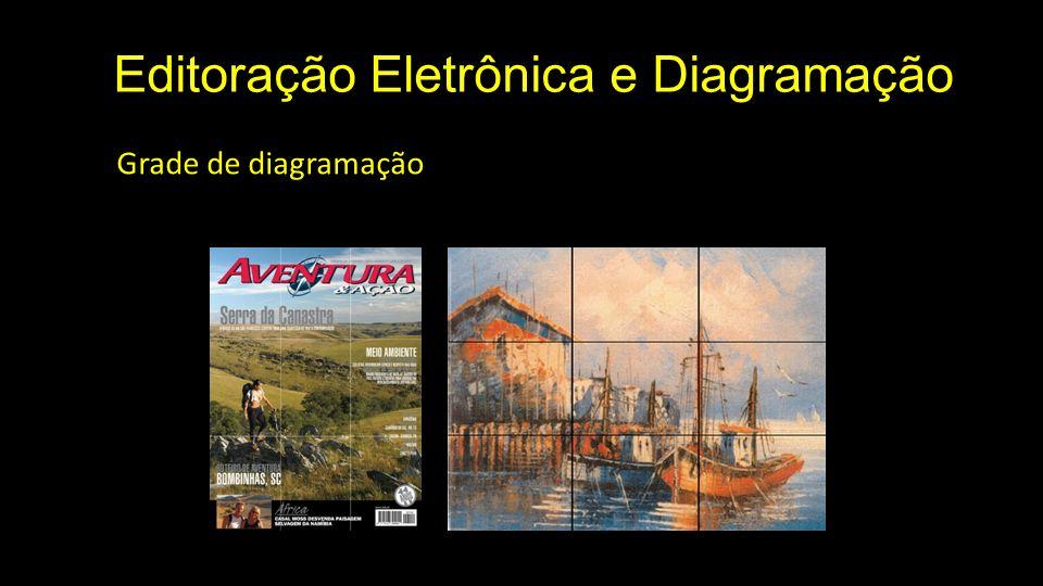 Editoração Eletrônica e Diagramação Grade de diagramação » elementos Guias horizontais: