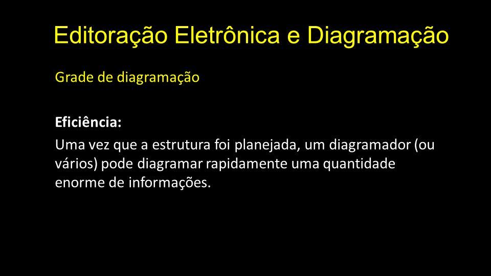 Editoração Eletrônica e Diagramação Grade de diagramação O diagramador não deve temer sua grade.