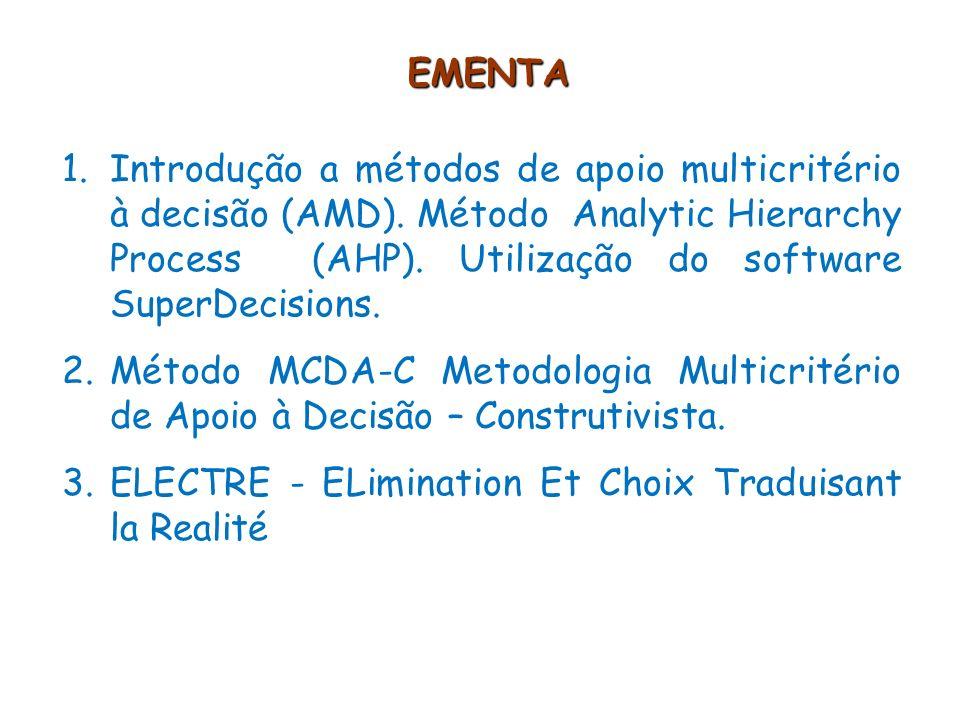 EMENTA 3.PROMÉTHÉE Preference Ranking Organization Method for Enrichment Evalutions 4.