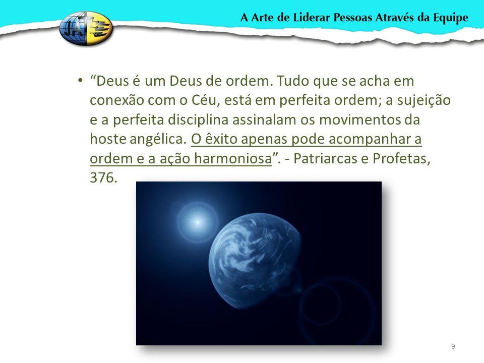 Deus é um Deus de ordem. Tudo que se acha em conexão com o Céu, está em perfeita ordem; a sujeição e a perfeita disciplina assinalam os movimentos da