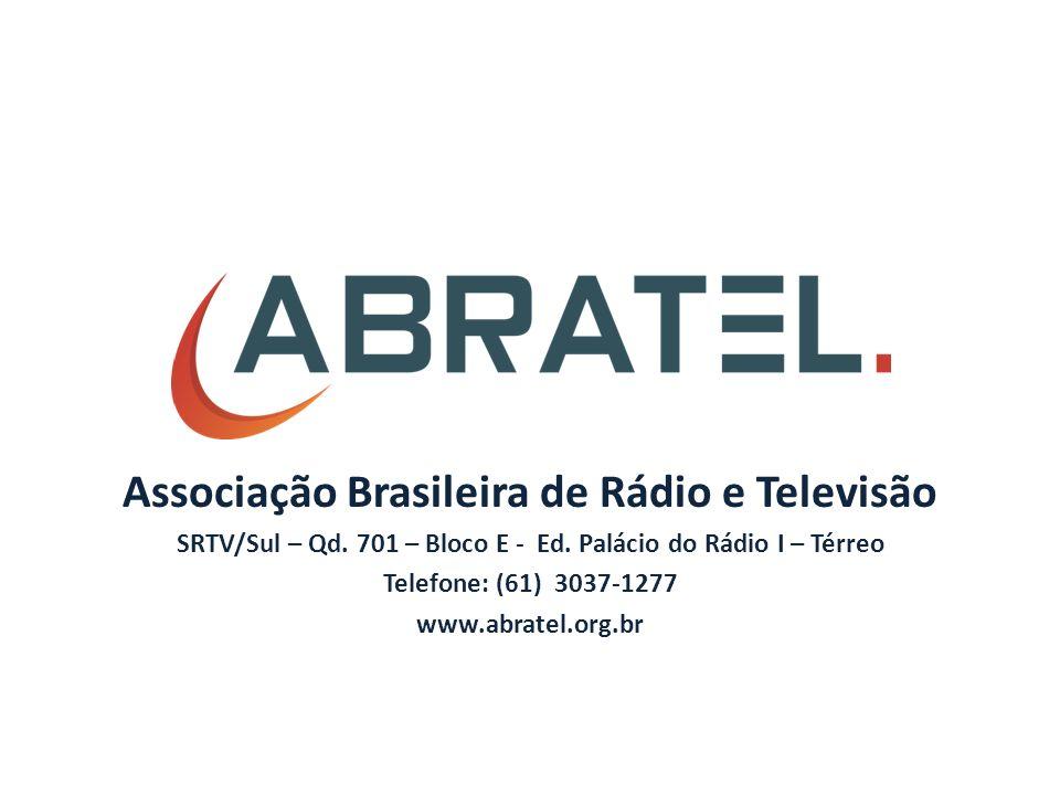 Associação Brasileira de Rádio e Televisão SRTV/Sul – Qd.
