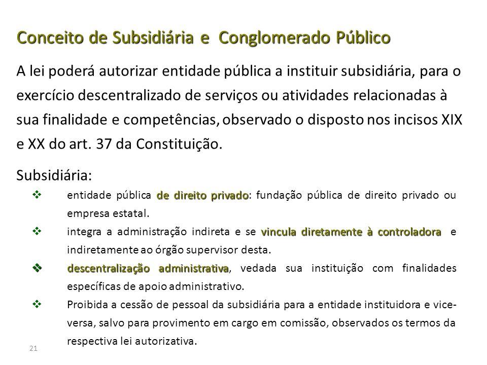 21 de direito privado entidade pública de direito privado: fundação pública de direito privado ou empresa estatal. vincula diretamente à controladora