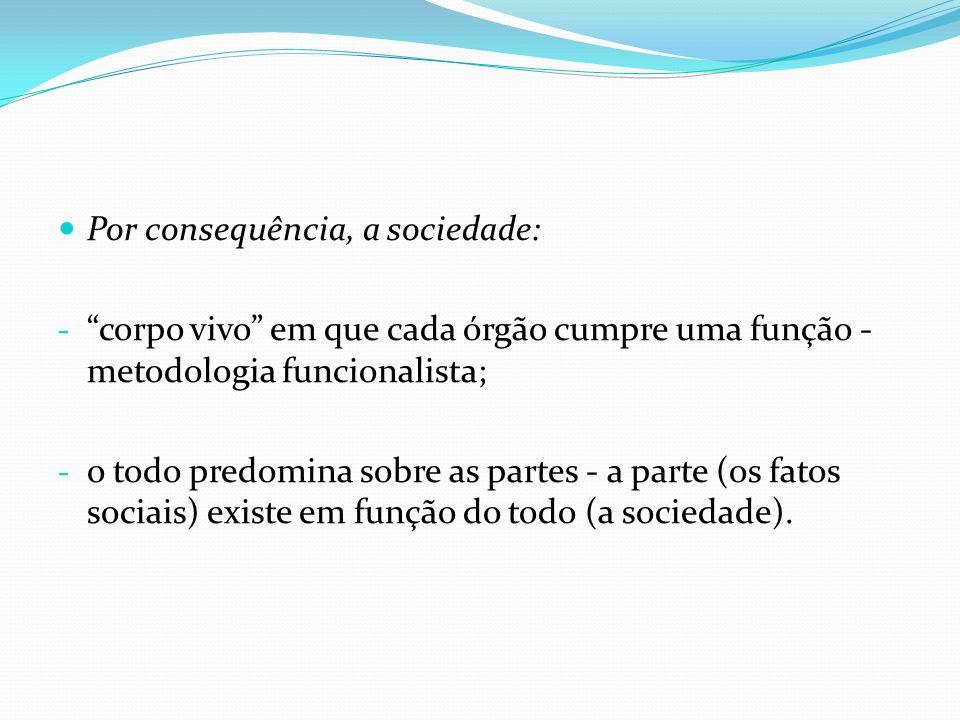 Classificação dos fatos sociais: Normais – é aquilo que pode ser praticado pela sociedade, mesmo que seja considerado algo negativo.