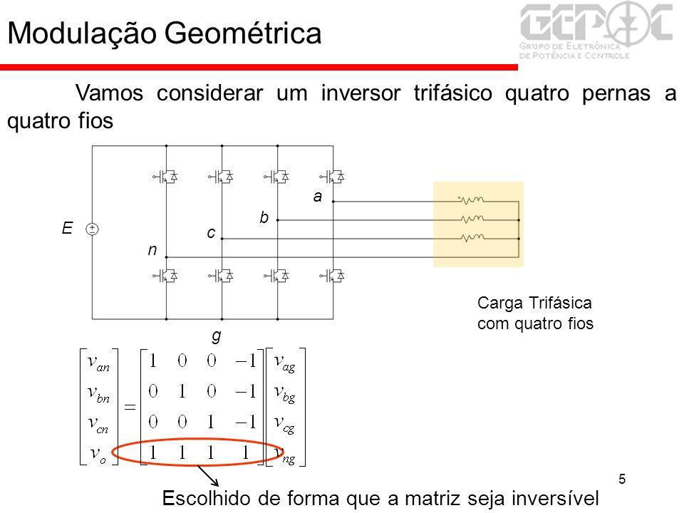 26 Modulação a partir das tensões de fase Rede Conversor Filtro L g a b c n E