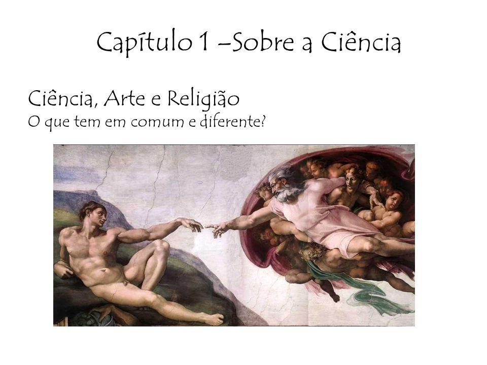 Capítulo 1 –Sobre a Ciência Ciência, Arte e Religião O que tem em comum e diferente?