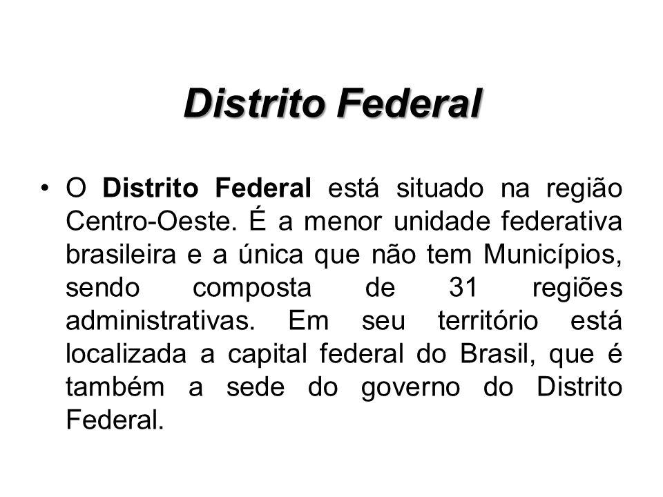 O atual Distrito Federal foi idealizado por um projeto do então presidente Juscelino Kubitschek de mudança da capital nacional do Rio de Janeiro para o centro do país.