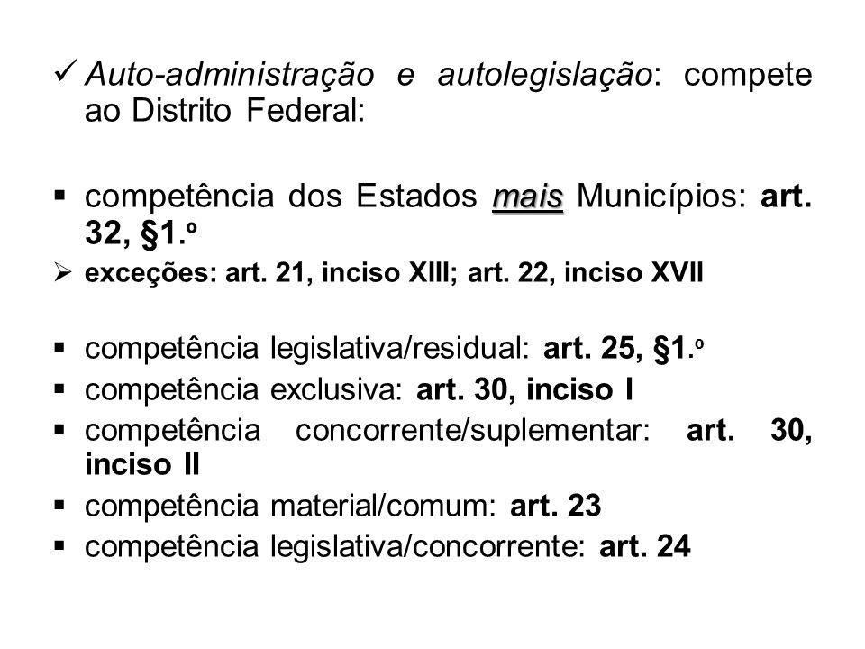 competência legislativa remanescente ou residual art.