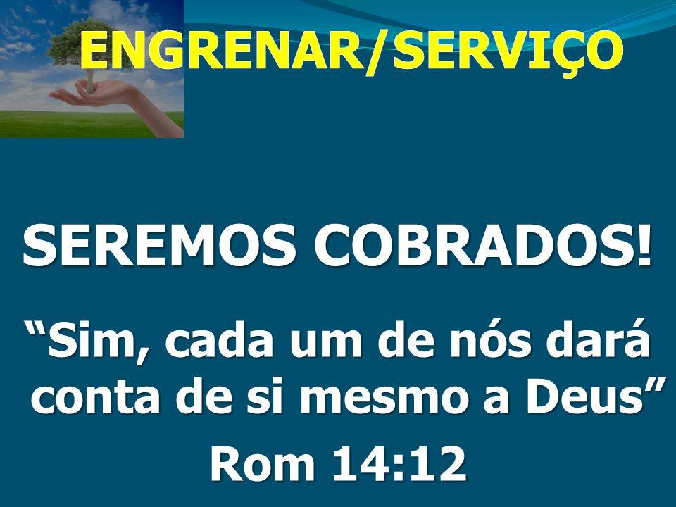 SEREMOS COBRADOS! Sim, cada um de nós dará conta de si mesmo a Deus Rom 14:12