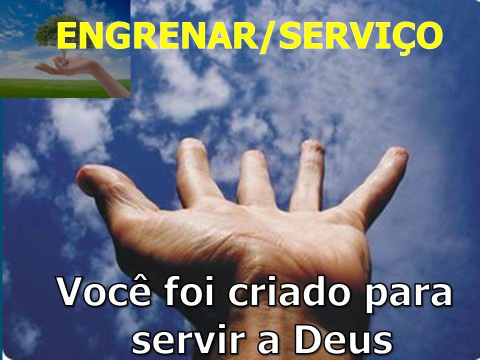 Você foi moldado para servir a Deus Foram as tuas mãos que me formaram e me fizeram. Jó 10.8