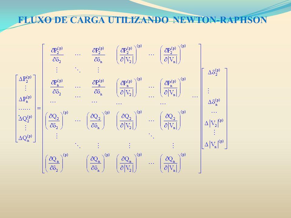 FLUXO DE CARGA UTILIZANDO NEWTON-RAPHSON.