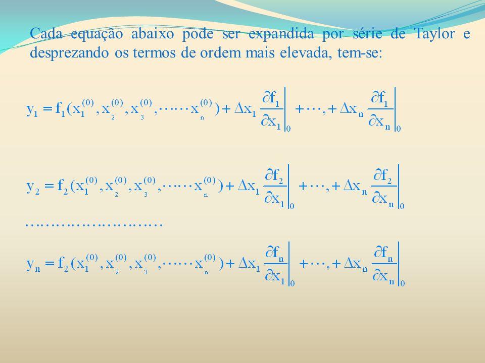 FLUXO DE CARGA UTILIZANDO NEWTON-RAPHSON Os elementos da diagonal principal e de fora da diagonal da partição J 4 são: Os termos ΔP e ΔQ são as diferenças entre os valores calculados e os especificados.
