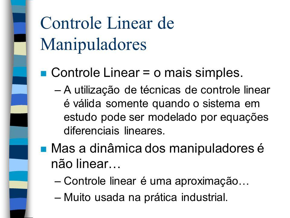 Controle Linear de Manipuladores n Controle Linear = o mais simples.
