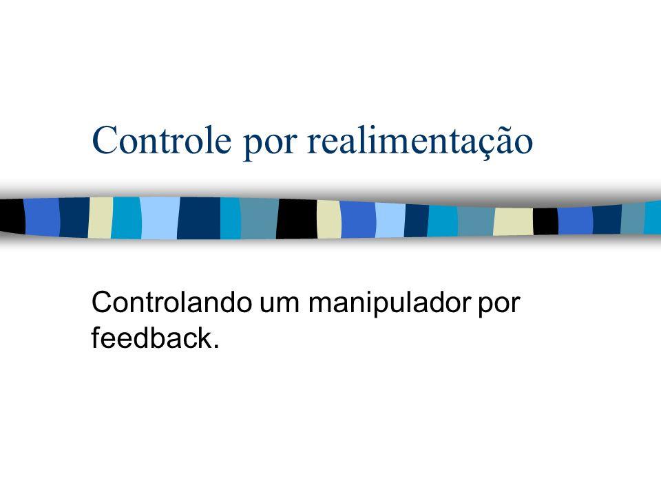 Controle por realimentação Controlando um manipulador por feedback.