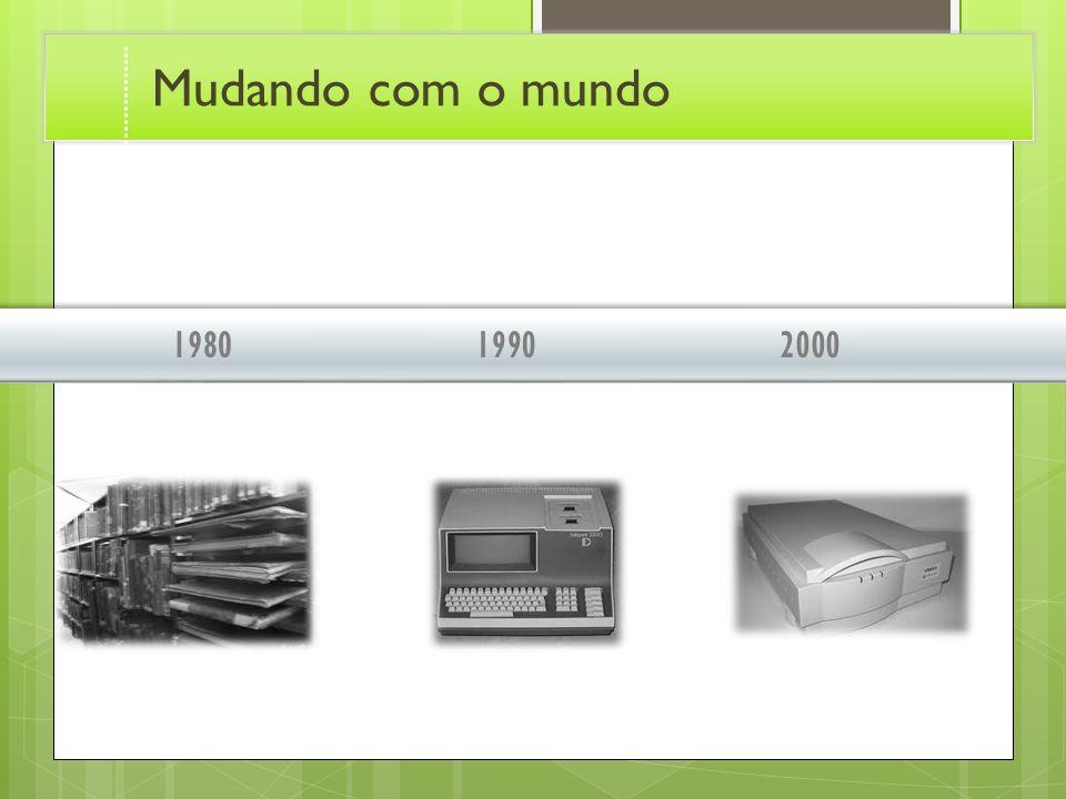 199020001980 Mudando com o mundo