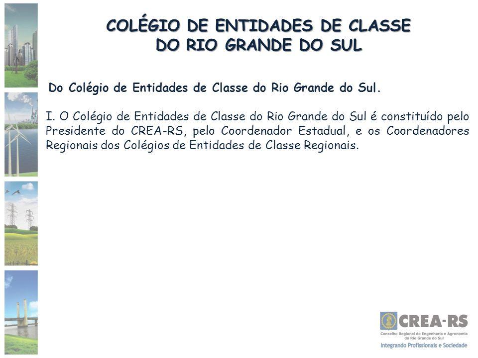 COLÉGIO DE ENTIDADES DE CLASSE DO RIO GRANDE DO SUL Do Colégio de Entidades de Classe do Rio Grande do Sul. I. O Colégio de Entidades de Classe do Rio